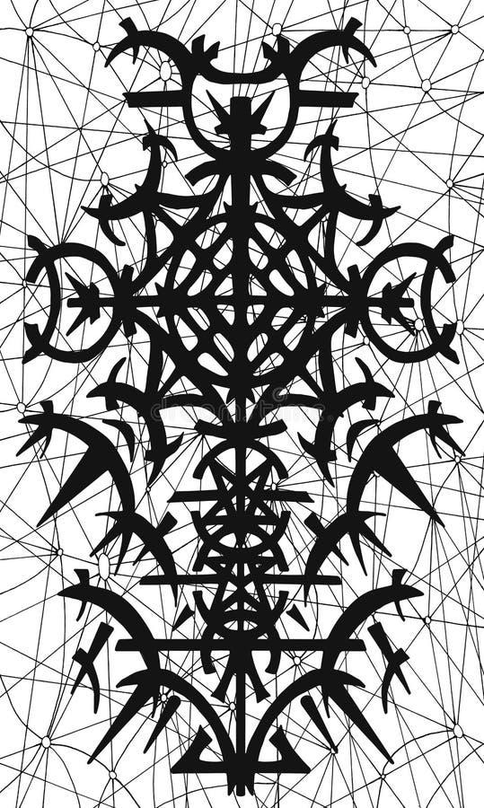 Tylnej pokrywy projekt tarot karta 21 ilustracji