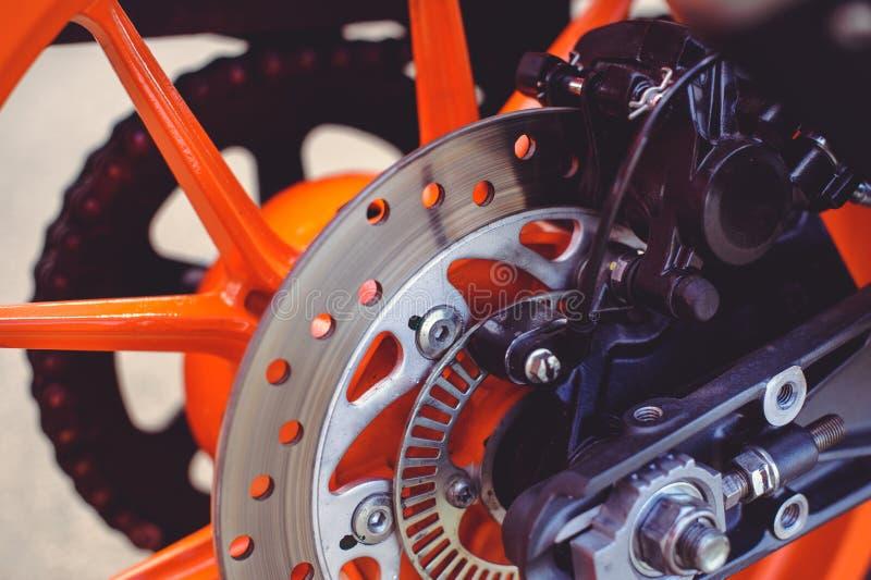 Tylni hamulca dysk dla sporta motocyklu obraz stock