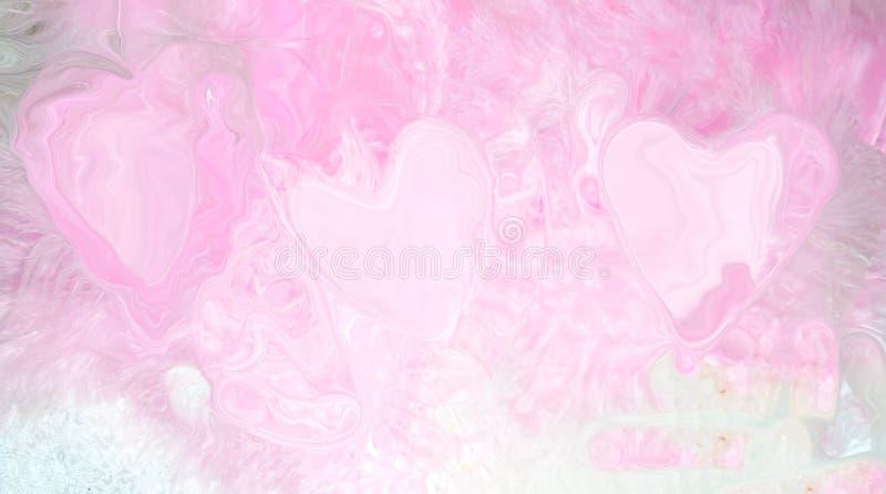 tylni ilustracja różowi serca na różowej tło abstrakci ledwo widocznej ilustracja wektor