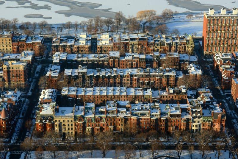 Tylni Podpalani mieszkania w Boston, usa zdjęcia royalty free