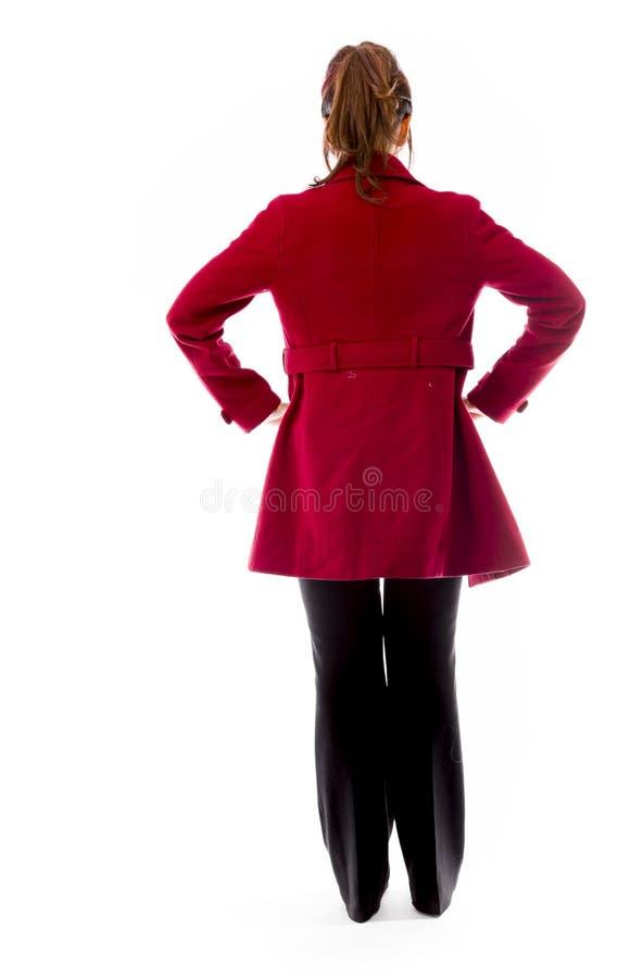 Download Tylni Widok Indianin Młodej Kobiety Pozycja Z Jej Rękami Akimbo Zdjęcie Stock - Obraz złożonej z studio, kobieta: 41950142