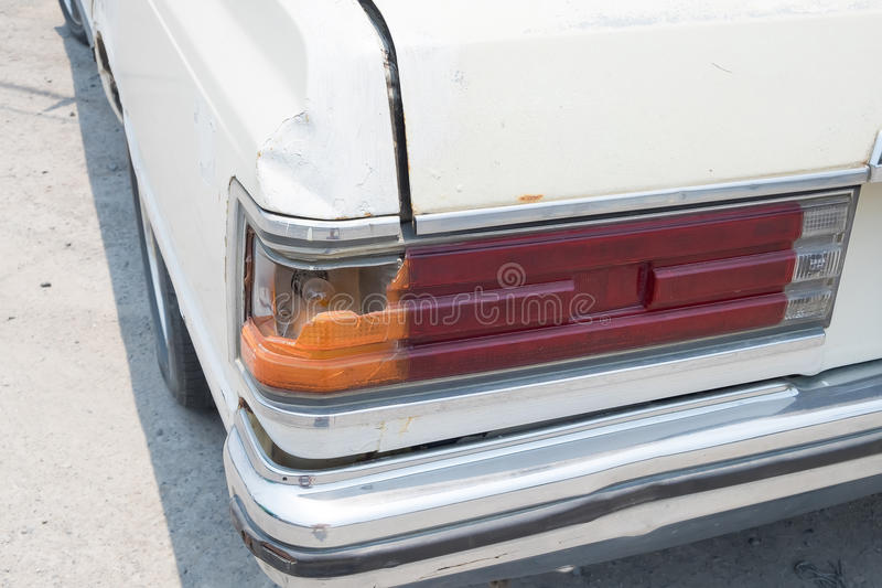 Tylny światło rocznika samochód obrazy stock