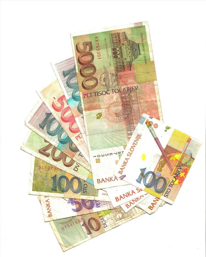 tylny banknotów slovenian tolar fotografia royalty free