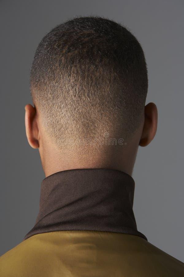 tylny chłopiec głowy s nastoletni widok fotografia stock
