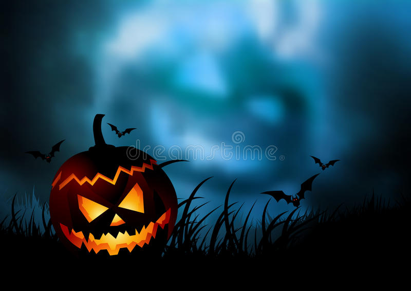 tylny Halloween ilustracja wektor