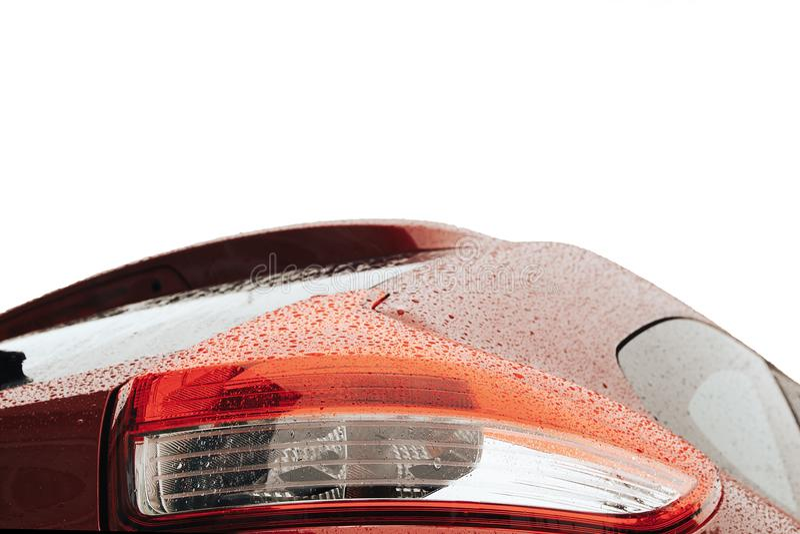 Tylny lekki czerwony samochodowy szczegół obraz royalty free