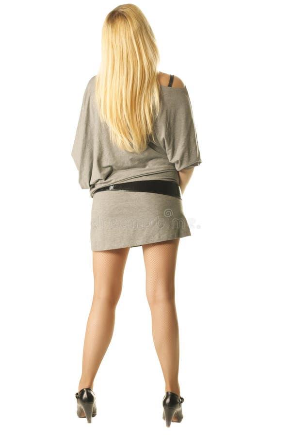 tylny nikły blondynki obracający obraz stock