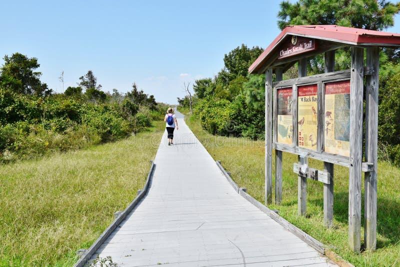 Tylny podpalany rezerwat dzikiej przyrody informaci znaka Virginia stan usa obraz royalty free