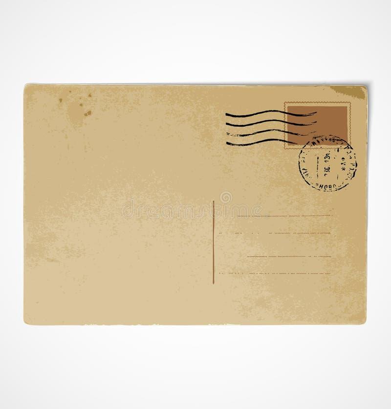tylny stary pocztówkowy rocznik ilustracji