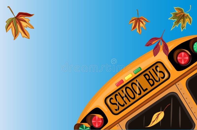 tylny szkolny Wrzesień ilustracji