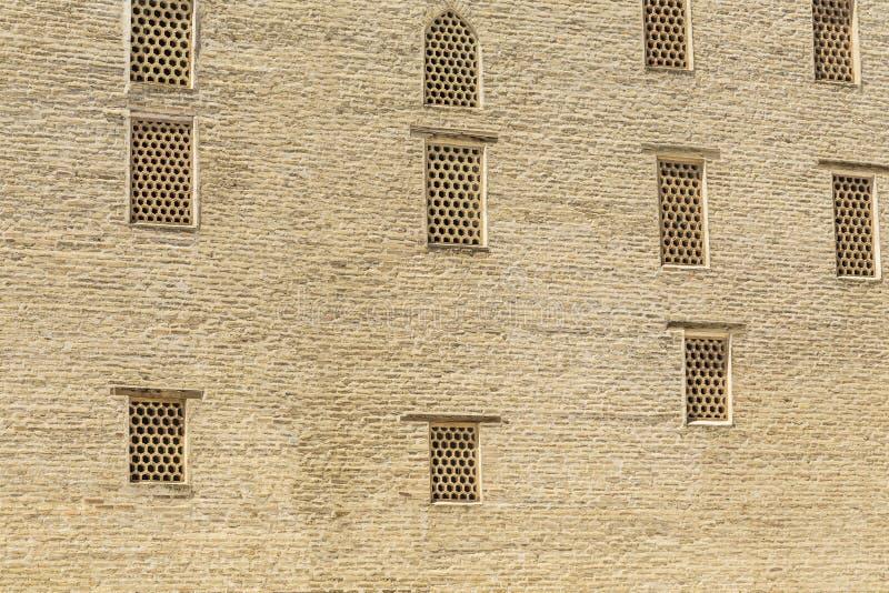 Tylny widok ściana w arabskim arabie Madrassah, Bukhara obrazy stock