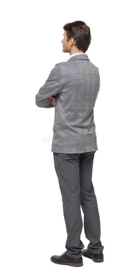 Tylny widok Biznesowego mężczyzna spojrzenia zdjęcie royalty free