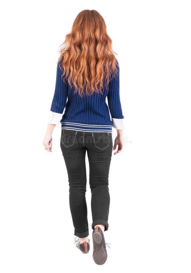 Tylny widok chodząca kobieta zdjęcie stock