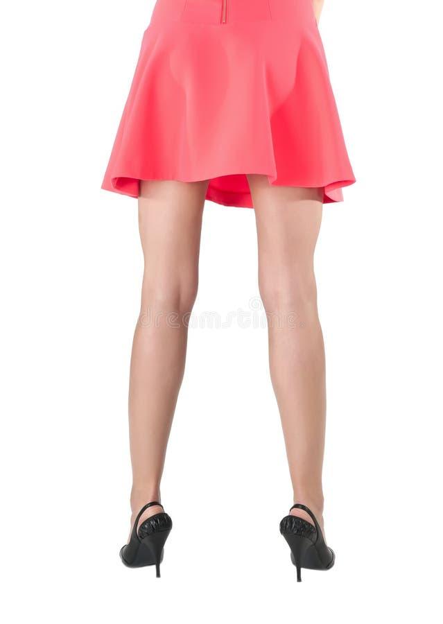 Tylny widok kobiet nogi obrazy royalty free