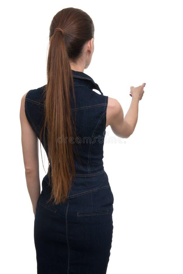 Tylny widok młoda kobieta zdjęcie stock