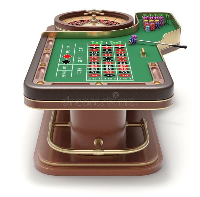 Tylny widok ruleta stół ilustracji