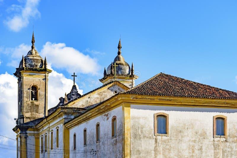 Tylny widok stary kościół katolicki xviii wiek zdjęcia stock