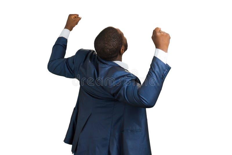 Tylny widok uszczęśliwiony kierownik obrazy royalty free