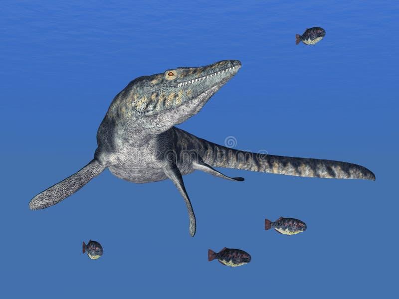 Tylosaurus illustration stock
