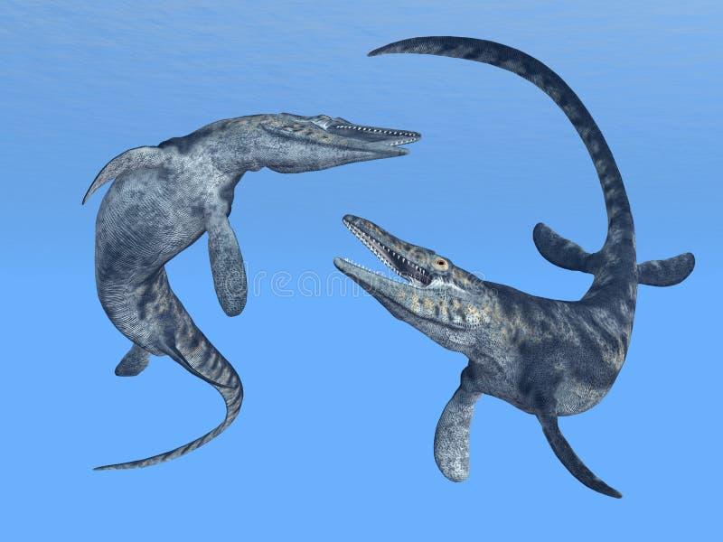 Tylosaurus illustration de vecteur