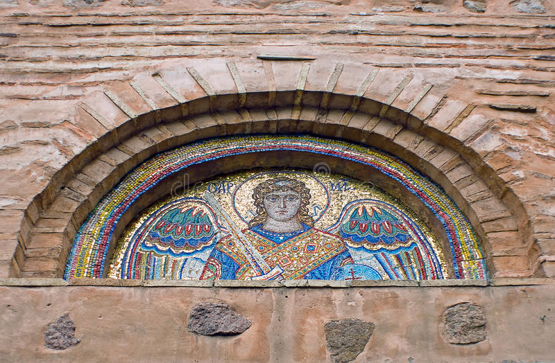 Download Tympanum With Ancient Mosaic Of Collegiate Church Stock Image - Image: 25354669