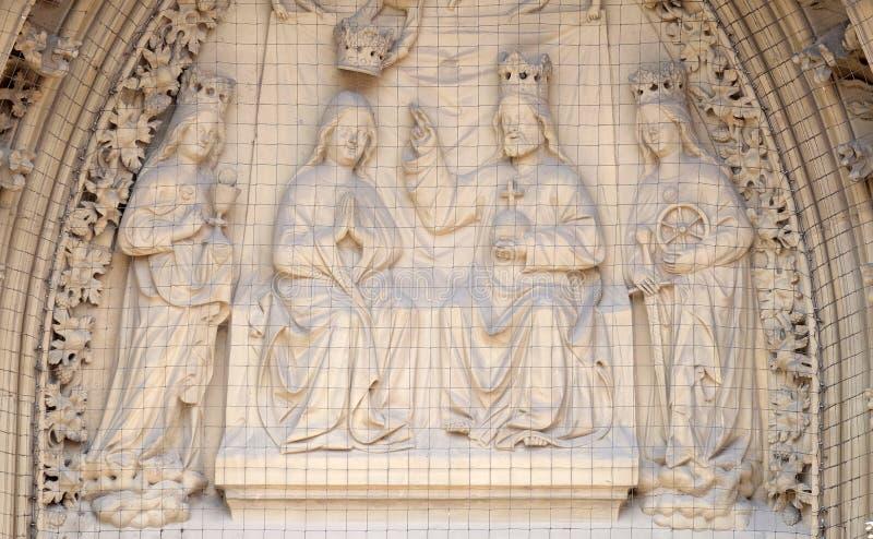 Coronation of the Virgin royalty free stock photo