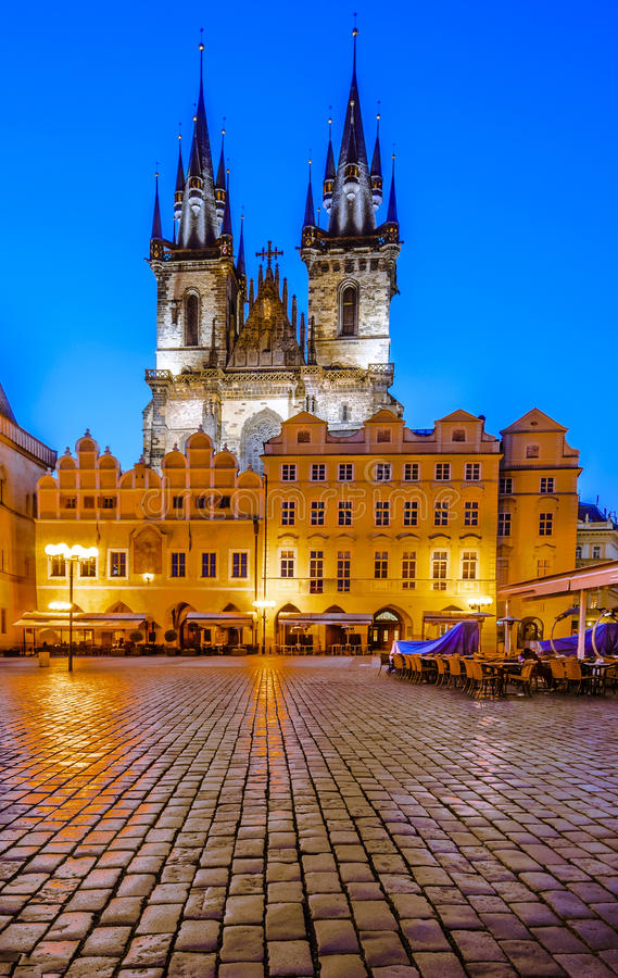 Tyn Church Landmark Of Prague Old City Stock Photo Image Of