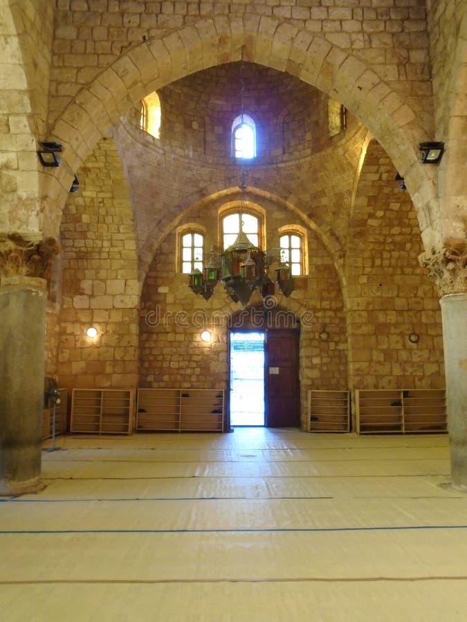 Tynal清真寺内部在的黎波里黎巴嫩 库存照片