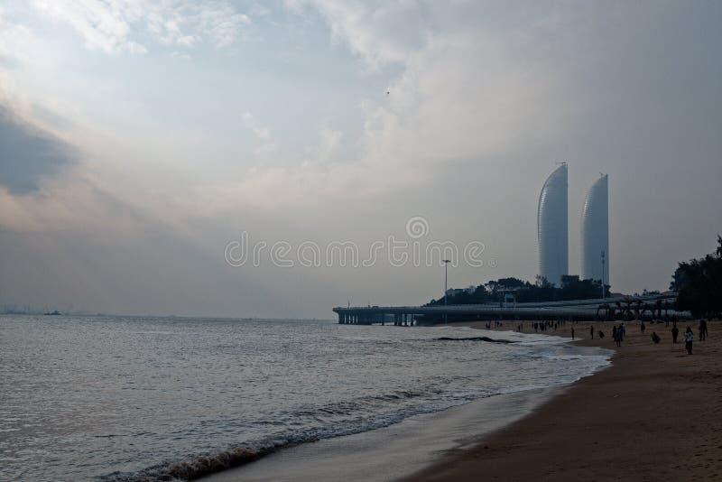 Tyndall gevolg-kust horizon stock afbeeldingen