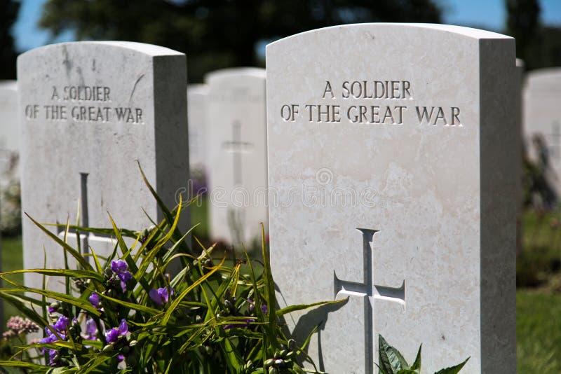 Tyne łóżka polowego cmentarz obraz royalty free