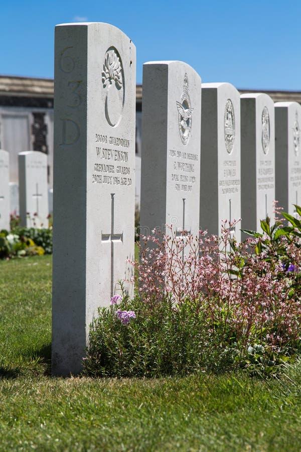 Tyne łóżka polowego cmentarz zdjęcia stock