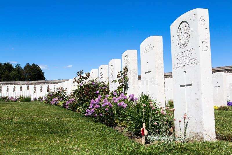 Tyne łóżka polowego cmentarz obraz stock