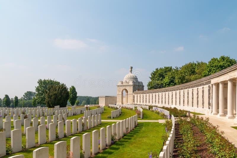 Tyne łóżka polowego militarny cmentarz w Flanders polach obraz royalty free