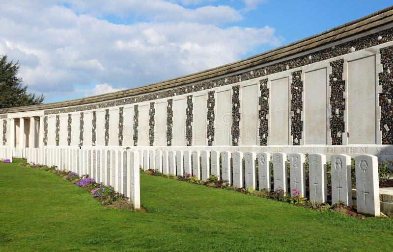 Tyne łóżka polowego Wojenny cmentarz, Belgia obrazy stock