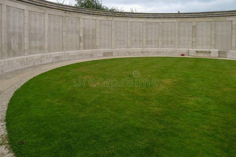 Tyne łóżka polowego WW1 cmentarz blisko Ypres zdjęcia royalty free