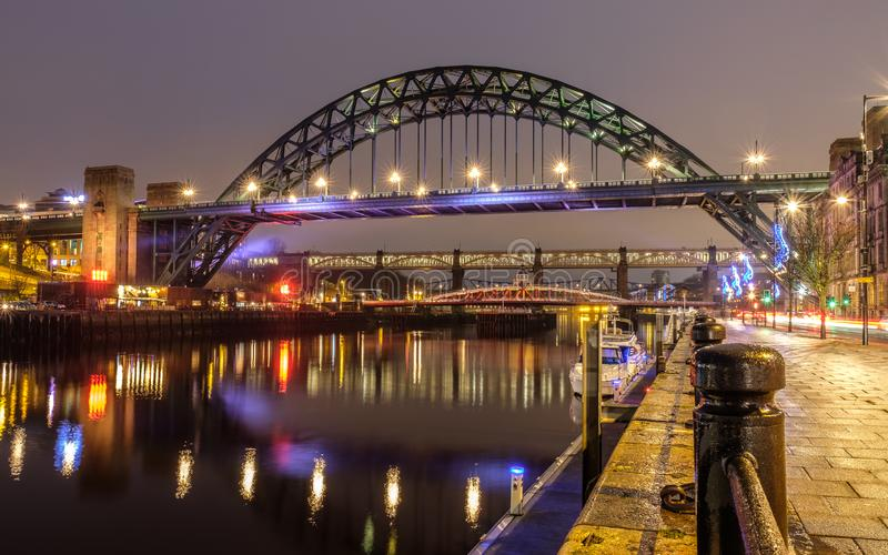 Tyne Bridge in Newcastle stock foto's