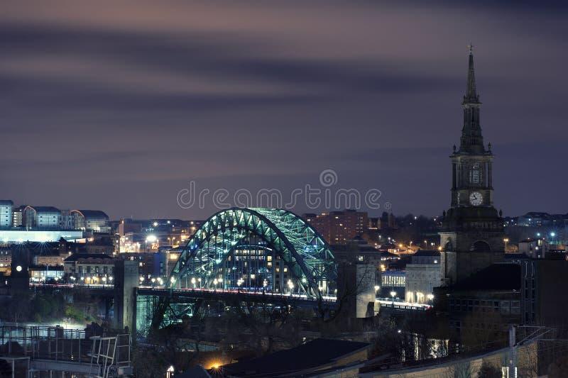 Tyne Bridge, Newcastle stockbild