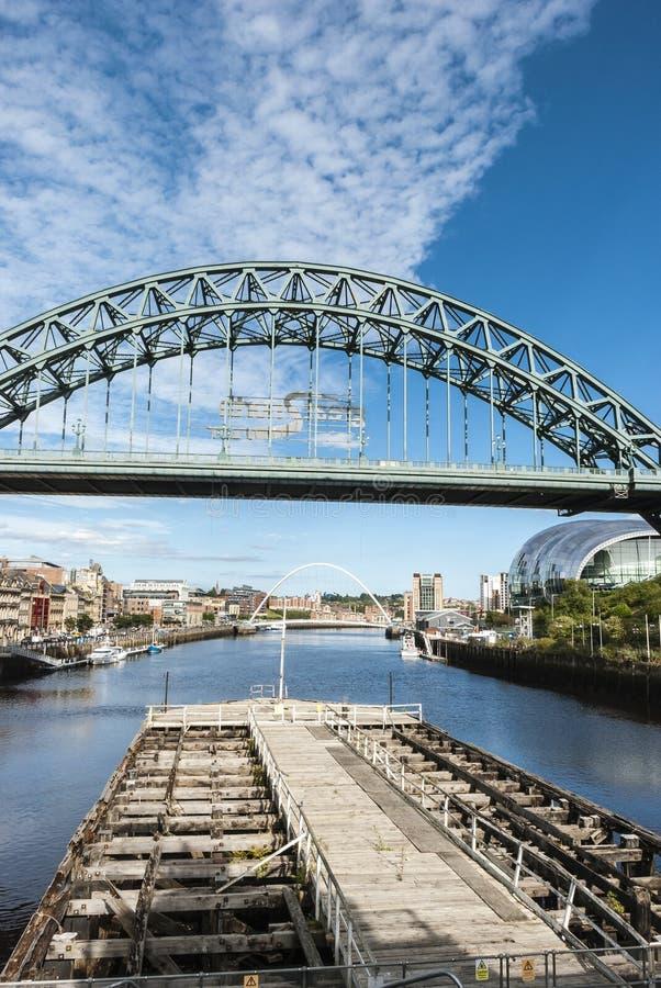 Tyne Bridge in Newcastle op de Tyne royalty-vrije stock foto's