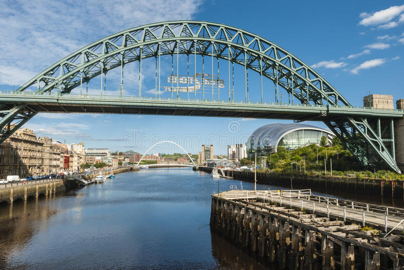 Tyne Bridge in Newcastle op de Tyne stock afbeelding