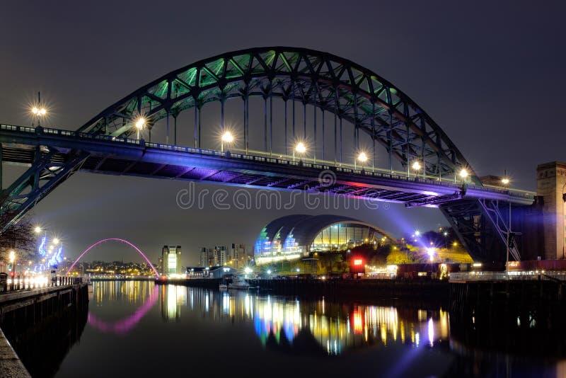 Tyne Bridge, Newcastle sur Tyne image stock