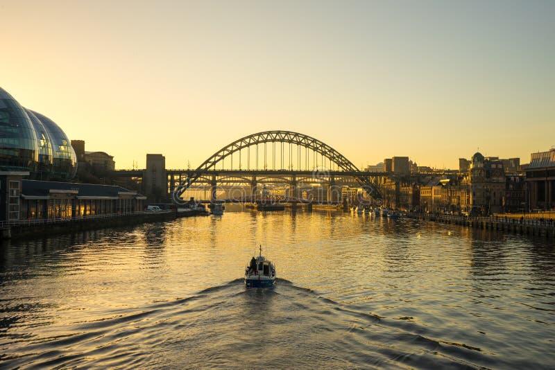 Tyne Bridge - Sunset royalty free stock photos