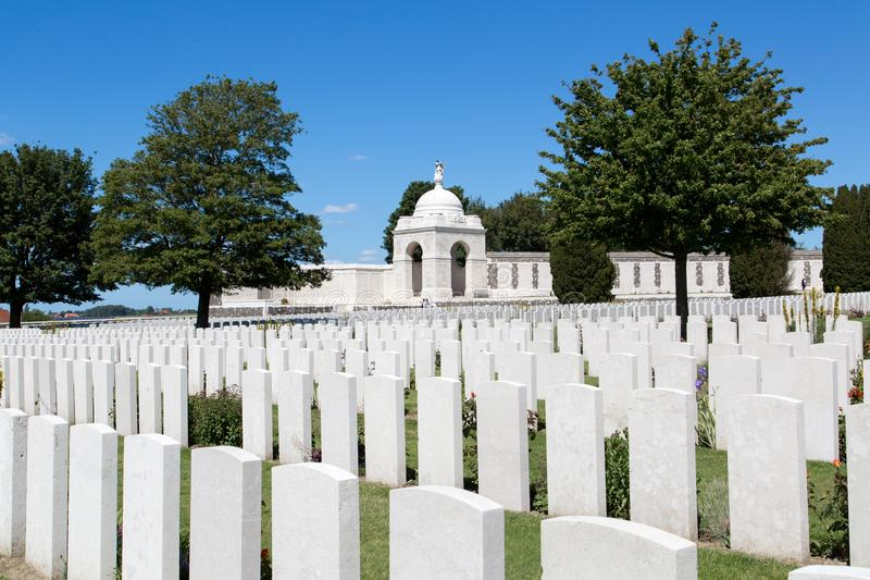 Tyne Cot Cemetery foto de stock royalty free