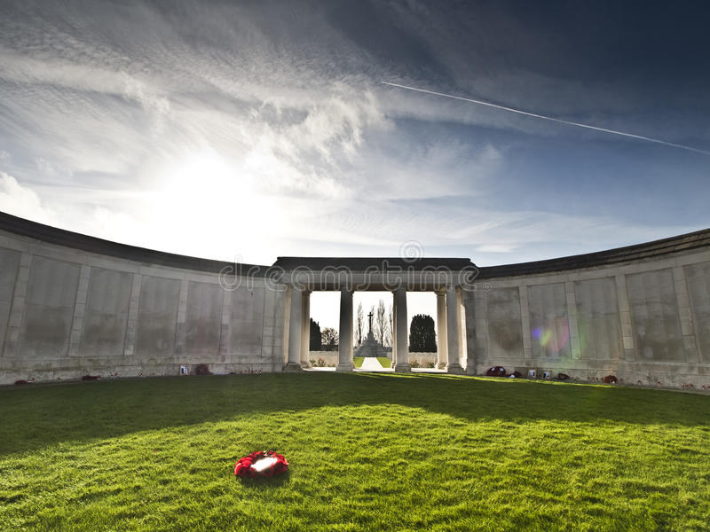 Tyne Cot Military Cemetery, Belgium royalty free stock photos