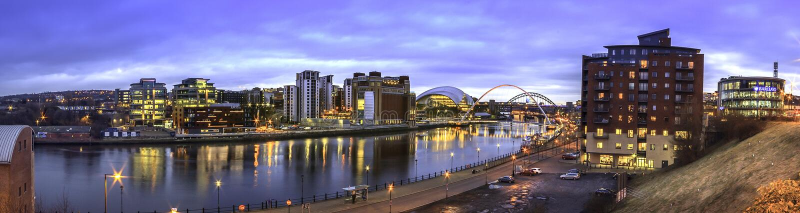 Tyne Sage Panorama photos stock