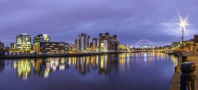 Tyne Sage Panorama 2 image libre de droits