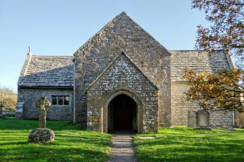 Tyneham村庄的圣玛丽的教会 免版税库存图片