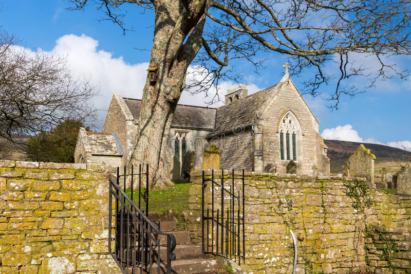 Tyneham Dorset England. St. Mary's church Church at Tyneham a ghost village in South Dorset, England,on the Isle of Purbeck royalty free stock photo