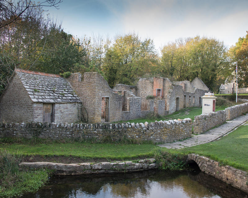 Tyneham Village. Evacuated during the war in Dorset,UK royalty free stock photography
