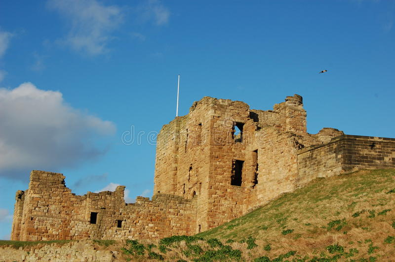 Tynemouth城堡 免版税库存照片