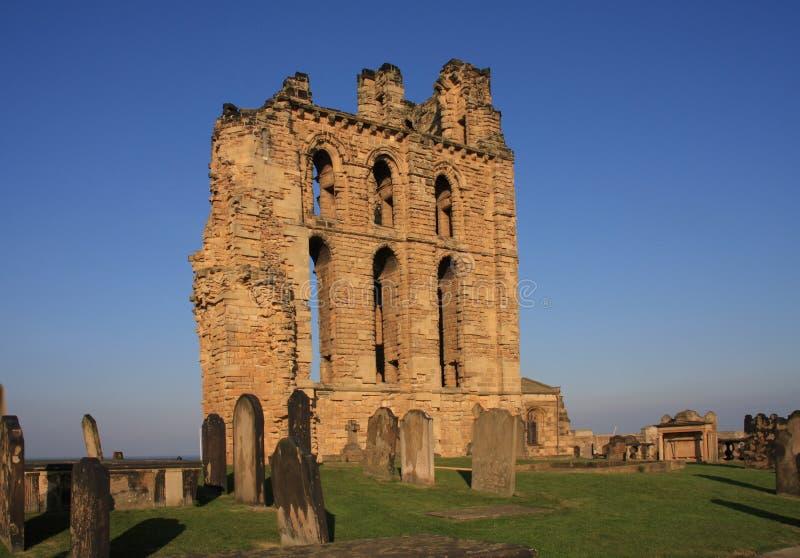 Tynemouth antérieurement et château photo libre de droits